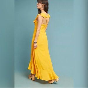 New Anthropologie Larke Bell Ruffled Maxi Dress
